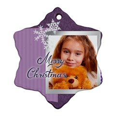 Xmas By Joely   Snowflake Ornament (two Sides)   Gfbn6yxprkj2   Www Artscow Com Back