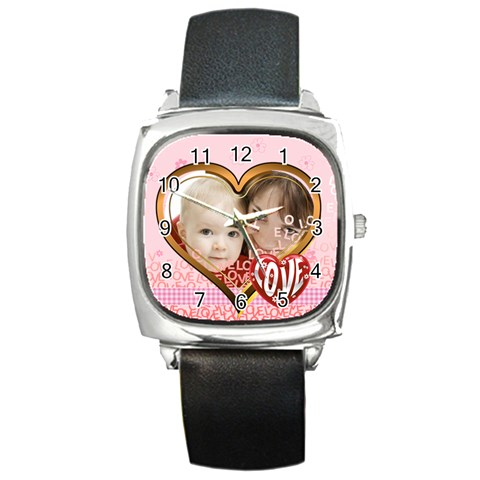 Love By Joely   Square Metal Watch   Vvypm65v7bhx   Www Artscow Com Front