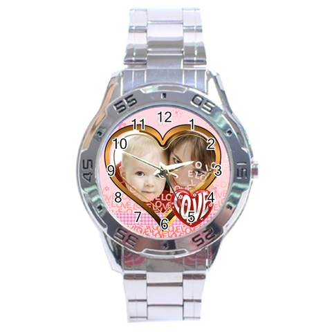 Love By Joely   Stainless Steel Analogue Watch   T7bvq6c2k3b0   Www Artscow Com Front