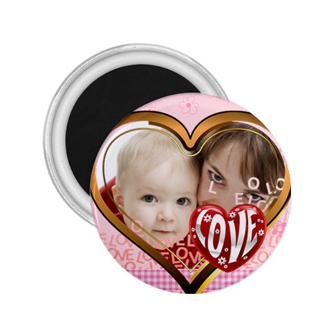 Love By Joely   2 25  Magnet   5dxc0cpudakl   Www Artscow Com Front