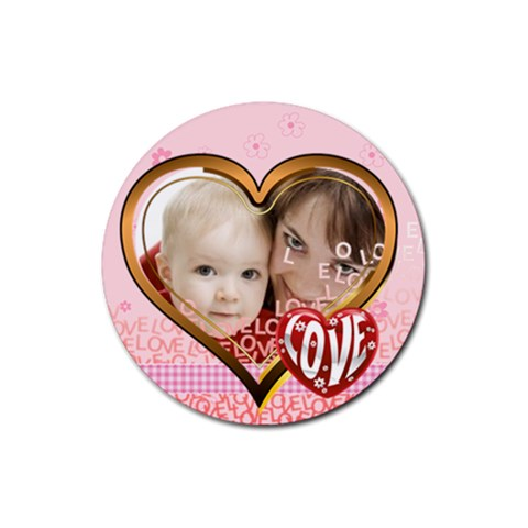 Love By Joely   Rubber Coaster (round)   14pa6frrpl9l   Www Artscow Com Front