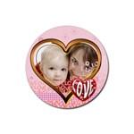 love - Rubber Coaster (Round)