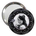 Pretty Black 3  Handbag Mirror