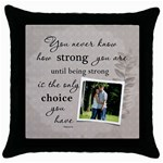 Strong Throw Pillow Case - Throw Pillow Case (Black)