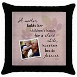 Mother Throw Pillow Case - Throw Pillow Case (Black)