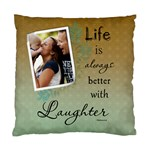 Laughter Cushion Case (1 Sided) - Standard Cushion Case (One Side)