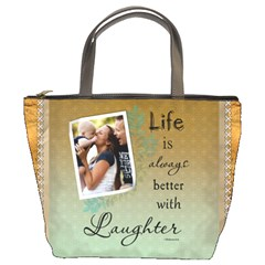 Laughter Bucket Bag By Lil    Bucket Bag   F50xbs64b4p5   Www Artscow Com Front