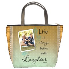 Laughter Bucket Bag By Lil    Bucket Bag   F50xbs64b4p5   Www Artscow Com Back