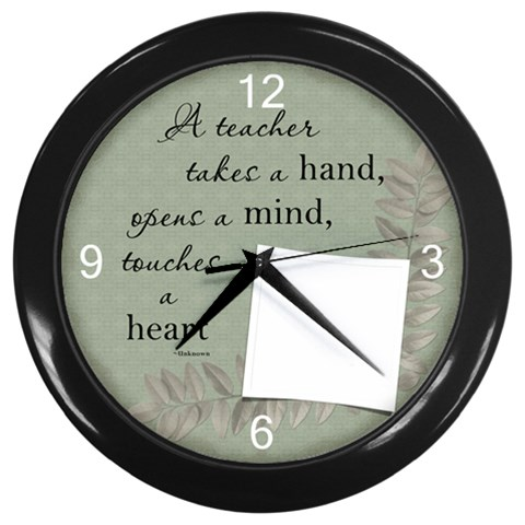 Teacher Wall Clock By Lil    Wall Clock (black)   Buum440qflrv   Www Artscow Com Front