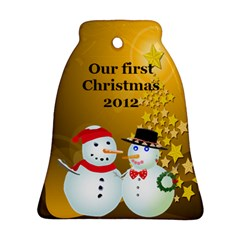 Our First Christmas Bell Ornament (2 Sides) By Kim Blair   Bell Ornament (two Sides)   Crul5absnqfo   Www Artscow Com Front
