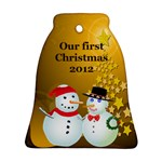 Our First Christmas Bell Ornament (2 sides) - Bell Ornament (Two Sides)