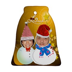 Our First Christmas Bell Ornament (2 Sides) By Kim Blair   Bell Ornament (two Sides)   Crul5absnqfo   Www Artscow Com Back