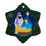 Nativity Snowflake Ornament (2 sides) - Snowflake Ornament (Two Sides)