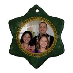 Nativity Snowflake Ornament (2 Sides) By Kim Blair   Snowflake Ornament (two Sides)   R36svtkc0rxi   Www Artscow Com Back