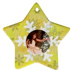 Snowflake glitter Star ornament (two sides)