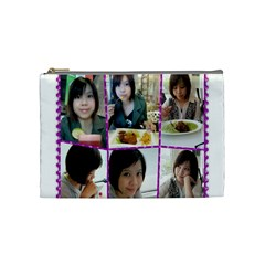 404 By 林雅雯   Cosmetic Bag (medium)   Ervfoiaym096   Www Artscow Com Front