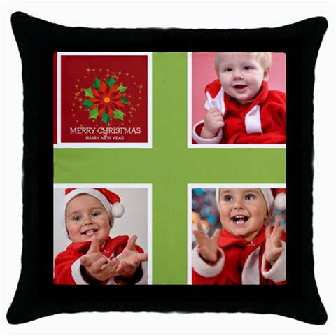 Xmas By Man   Throw Pillow Case (black)   2ntvx0eenz0z   Www Artscow Com Front