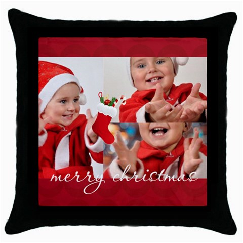 Xmas By Man   Throw Pillow Case (black)   Swb8731m7nuw   Www Artscow Com Front