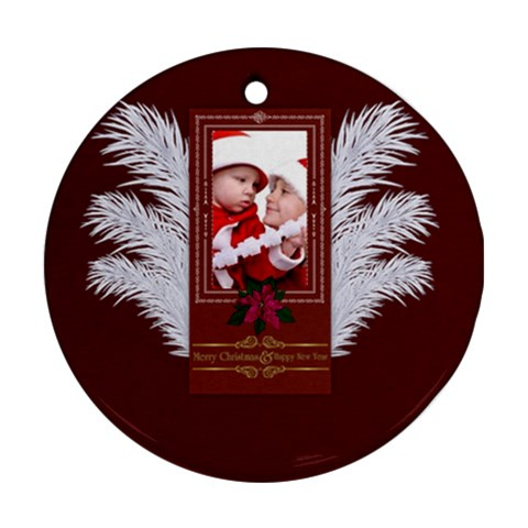 Xmas By Debe Lee   Ornament (round)   921u2mwqpvm7   Www Artscow Com Front