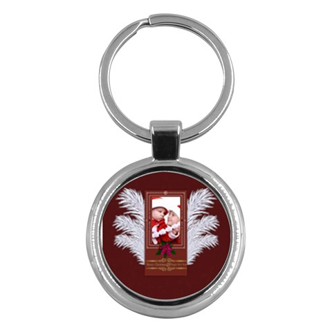 Xmas By Debe Lee   Key Chain (round)   2ucontyb9syz   Www Artscow Com Front