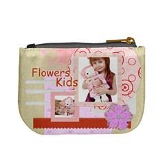 Flower Kids By Jo Jo   Mini Coin Purse   Ehy91l568qeb   Www Artscow Com Back