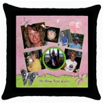 Throw Pillow Case_For the Cure - Throw Pillow Case (Black)