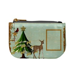 All Is Calm Deer Mini Coin Purse By Catvinnat   Mini Coin Purse   C16ikqfgzz6f   Www Artscow Com Front