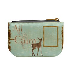 All Is Calm Deer Mini Coin Purse By Catvinnat   Mini Coin Purse   C16ikqfgzz6f   Www Artscow Com Back