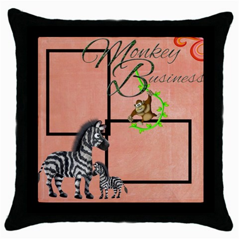 Elephants Throw Pillow By Catvinnat   Throw Pillow Case (black)   Hawqk6icovel   Www Artscow Com Front