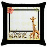 Animal Magic Throw Pillow - Throw Pillow Case (Black)