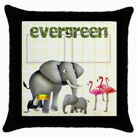 Evergreen  Throw Pillow By Catvinnat   Throw Pillow Case (black)   Fh42iuj9j6an   Www Artscow Com Front