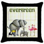 Evergreen  Throw Pillow - Throw Pillow Case (Black)
