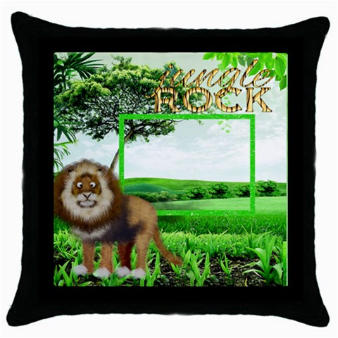 Jungle Rock  Throw Pillow By Catvinnat   Throw Pillow Case (black)   4uduxrixd6bo   Www Artscow Com Front