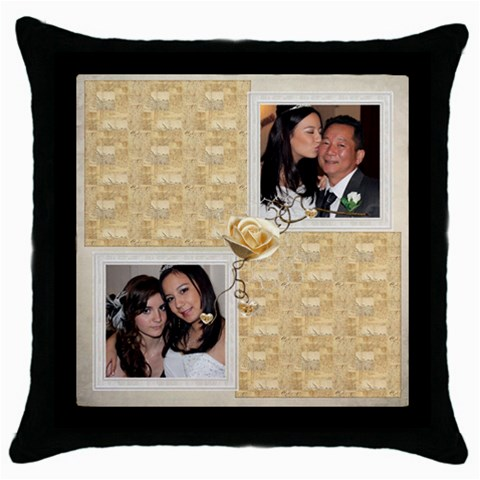 Rosa Throw Pillow By Catvinnat   Throw Pillow Case (black)   Vximoyul2lac   Www Artscow Com Front