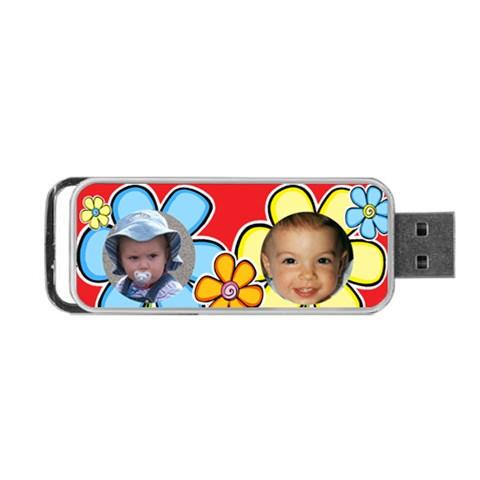 Kids Portable Usb Flash By Deborah   Portable Usb Flash (one Side)   Uv2eduu2fbqv   Www Artscow Com Front