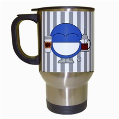 Coffee Mug Stripes By Giggles Corp   Travel Mug (white)   Lrhxqwierwgq   Www Artscow Com Left