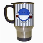 Coffee mug stripes - Travel Mug (White)