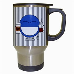 Coffee Mug Stripes By Giggles Corp   Travel Mug (white)   Lrhxqwierwgq   Www Artscow Com Right