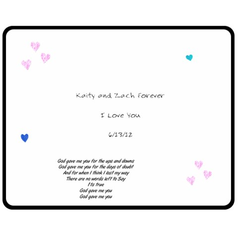 Kaity And Zach By Kaity   Fleece Blanket (medium)   79pn0b8377lm   Www Artscow Com 60 x50 Blanket Front