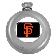 Sf Giants Logo Hip Flask (Round) by tammystotesandtreasures