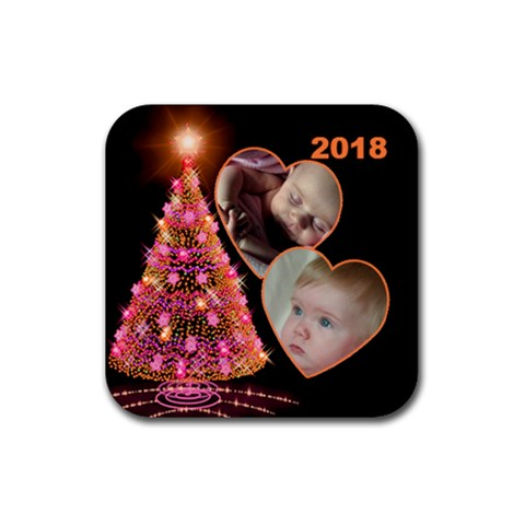 Sparkle Christmas Tree Square Coaster By Deborah   Rubber Coaster (square)   Luot599099yq   Www Artscow Com Front