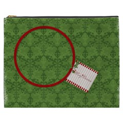 Merry Christmas Xl Cosmetic Case By Jen   Cosmetic Bag (xxxl)   6zhy44qm7i2h   Www Artscow Com Front