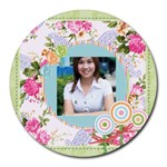 flower - Collage Round Mousepad