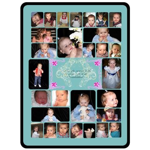 Grandchildren 5 By Birkie   Fleece Blanket (large)   02c2xcp3m45t   Www Artscow Com 80 x60 Blanket Front