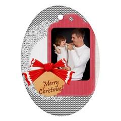Xmas By Jo Jo   Oval Ornament (two Sides)   Khmh7h5wg2sz   Www Artscow Com Front