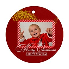 Xmas By Man   Round Ornament (two Sides)   Id38i8lm2eqb   Www Artscow Com Front
