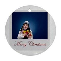 Xmas By Man   Round Ornament (two Sides)   Y0obdir3qwar   Www Artscow Com Front