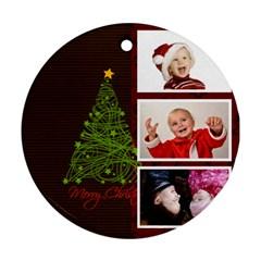 Xmas By Man   Round Ornament (two Sides)   5yudhhia7xtq   Www Artscow Com Back