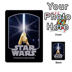Star Wars Tcg Ii By Jaume Salva I Lara   Multi Purpose Cards (rectangle)   78rjzmm60ppz   Www Artscow Com Back 3