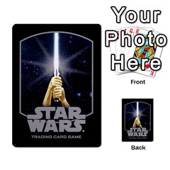 Star Wars Tcg Vii By Jaume Salva I Lara   Multi Purpose Cards (rectangle)   Kdyv3ep6m7bn   Www Artscow Com Back 16